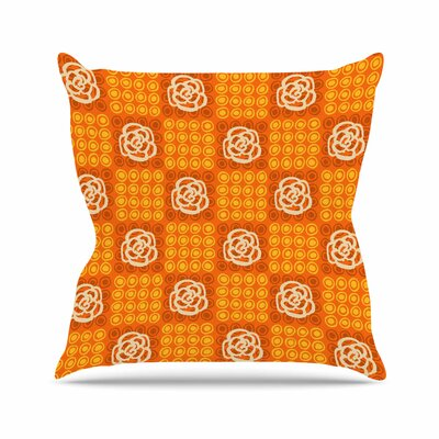 Polka Dot Rose Jane Smith Throw Pillow
