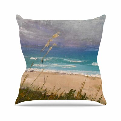 Florida Beach Scene Carol Schiff Throw Pillow Size: 18 H x 18 W x 4 D