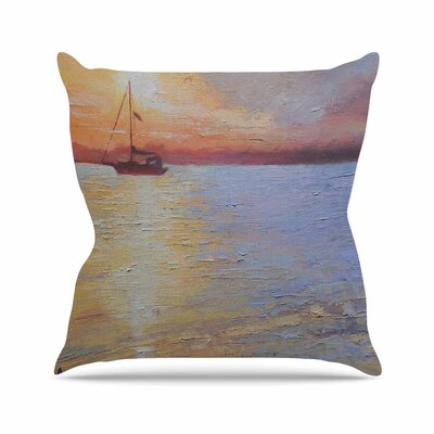 Evening Anchor Carol Schiff Throw Pillow Size: 26 H x 26 W x 4 D