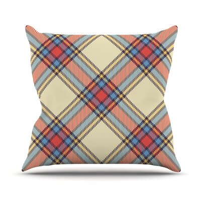 Sunday Brunch Plaid Throw Pillow