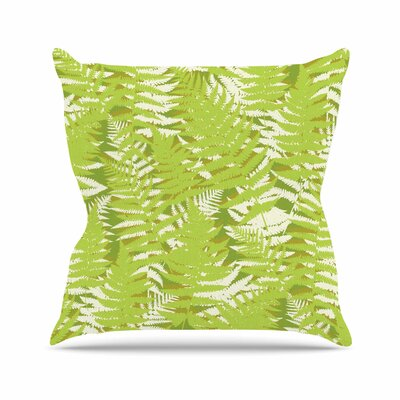 Fun Fern - Citrus Jacqueline Milton Throw Pillow Color: Green