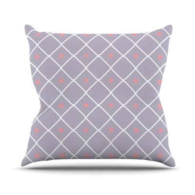 Lilac Web Throw Pillow