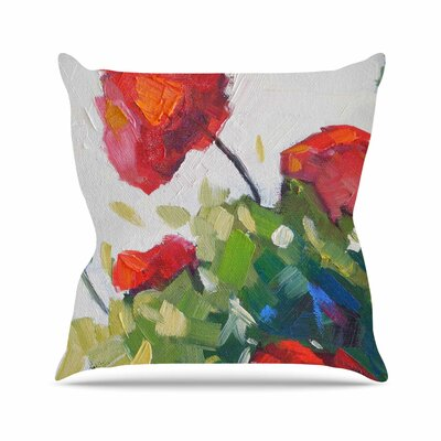 Cheerful Geranium Carol Schiff Throw Pillow Size: 20 H x 20 W x 4 D