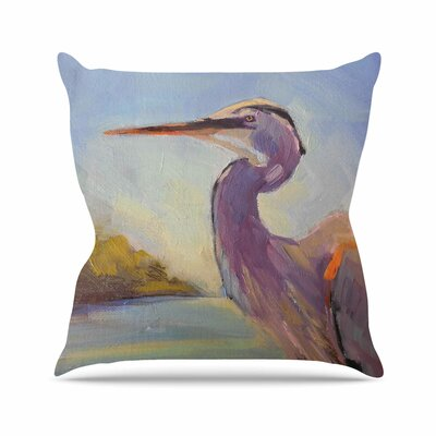 Tropical Sentry Carol Schiff Throw Pillow Size: 18 H x 18 W x 4 D