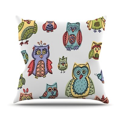 Owls Brienne Jepkema Throw Pillow Size: 18 H x 18 W x 4 D