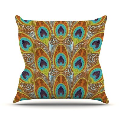 Peacock Pattern Art Love Passion Throw Pillow