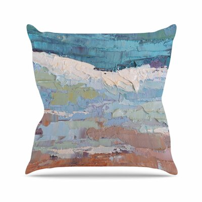 On the Beach by Carol Schiff Throw Pillow Size: 18 H x 18 W x 3 D
