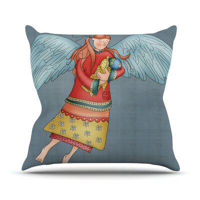 Guardian Angel by Carina Povarchik Throw Pillow Size: 26 H x 26 W x 5 D
