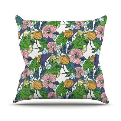 Spring Foliage by Catherine Holcombe Throw Pillow Size: 18 H x 18 W x 3 D