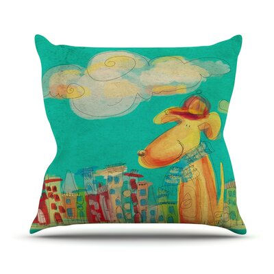 Perrito by Carina Povarchik Throw Pillow Size: 18