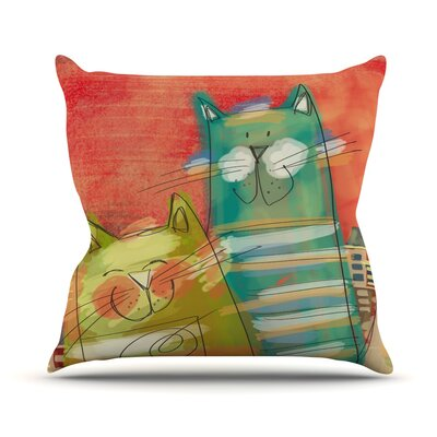 Gatos Carina Povarchik Throw Pillow