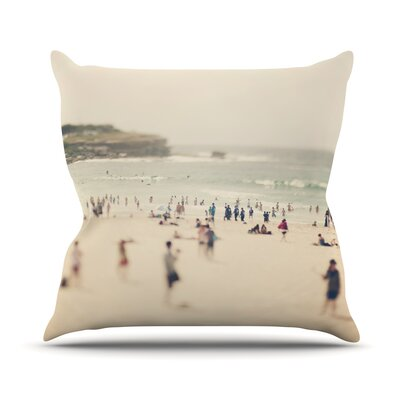 Bondi Beach by Catherine McDonald Throw Pillow Size: 26 H x 26 W x 5 D