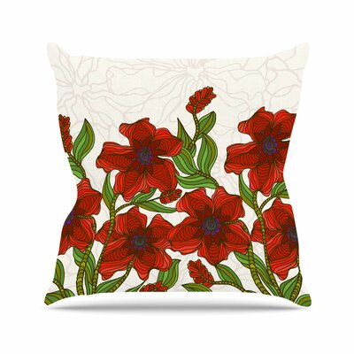 Poppy Field Art Love Passion Throw Pillow