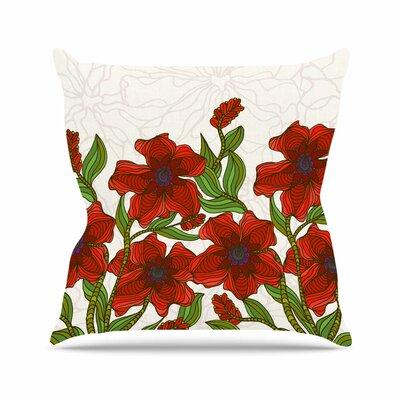 Poppy Field Art Love Passion Throw Pillow