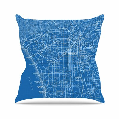 Los Angeles Streets by Catherine Holcombe Throw Pillow Size: 26 H x 26 W x 5 D