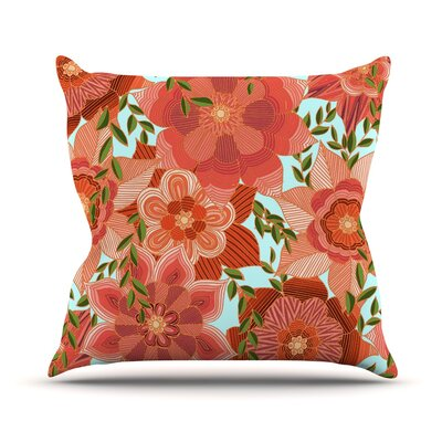 Flower Power Art Love Passion Throw Pillow