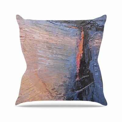Coral and Blue by Carol Schiff Throw Pillow Size: 26 H x 26 W x 5 D