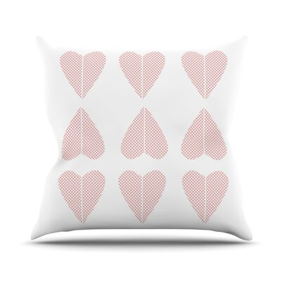 Cross My Heart Multiple by Belinda Gillies Throw Pillow Size: 18 x 18