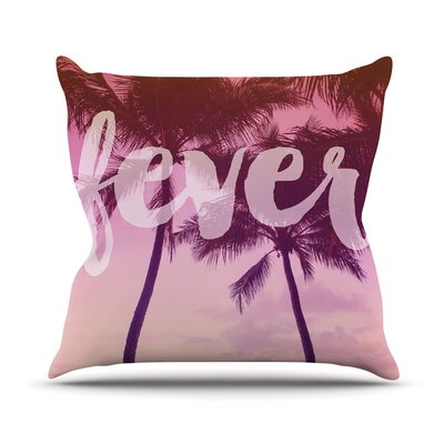 Fever by Catherine McDonald Throw Pillow Size: 26 H x 26 W x 5 D