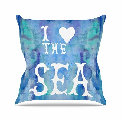 I Love The Sea 2 by Catherine Holcombe Throw Pillow Size: 16 H x 16 W x 3 D