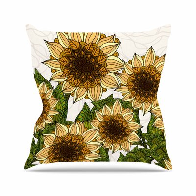Sunflower Field Art Love Passion Throw Pillow