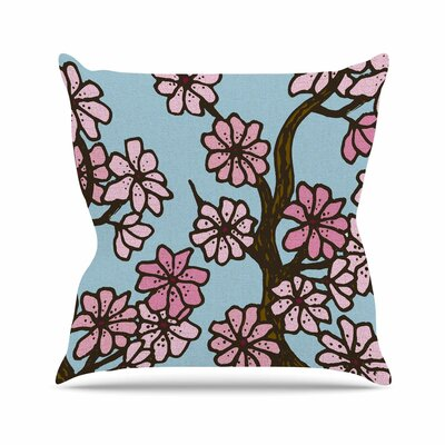 Cherry Blossom Day Art Love Passion Throw Pillow