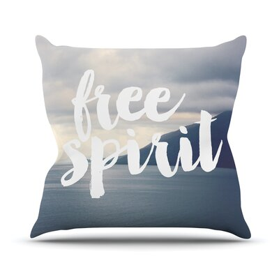 Free Spirit by Catherine McDonald Throw Pillow Size: 18 H x 18 W x 3 D
