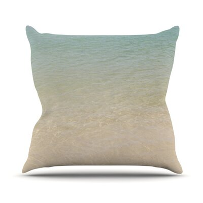 Ombre Sea by Catherine McDonald Throw Pillow Size: 16 H x 16 W x 3 D