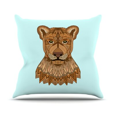 Lioness Art Love Passion Throw Pillow