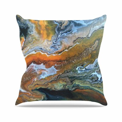 Geologic Veins by Carol Schiff Throw Pillow Size: 26 H x 26 W x 5 D