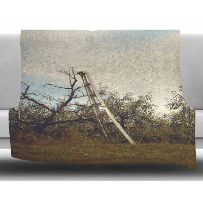Apple Picking by Angie Turner Fleece Blanket Size: 60 W x 80 L