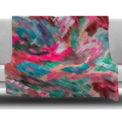 Giverny by Alison Coxson Fleece Blanket Size: 60 W x 80 L