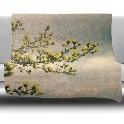 Magnolias by Angie Turner Fleece Blanket Size: 50 W x 60 L