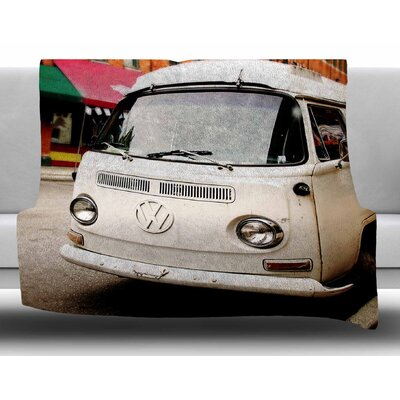 VW Bus by Angie Turner Fleece Blanket Size: 50 W x 60 L