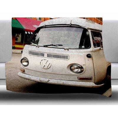 VW Bus by Angie Turner Fleece Blanket Size: 60 W x 80 L