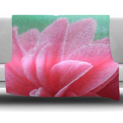 Camellia by Alison Coxon Fleece Blanket Size: 50 W x 60 L