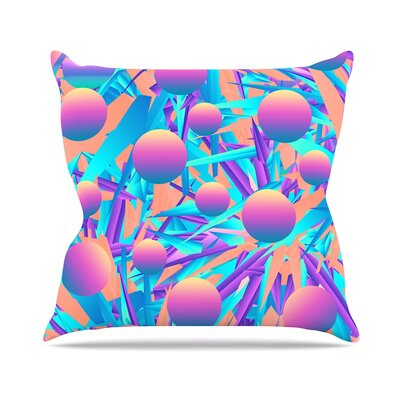 Blind Face by Danny Ivan Throw Pillow Size: 18 H x 18 W x 3 D