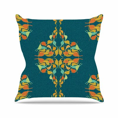 Feast by Dan Sekanwagi Throw Pillow Size: 26 H x 26 W x 5 D