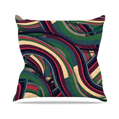 Swirl Madness by Danny Ivan Throw Pillow Size: 18 H x 18 W x 3 D