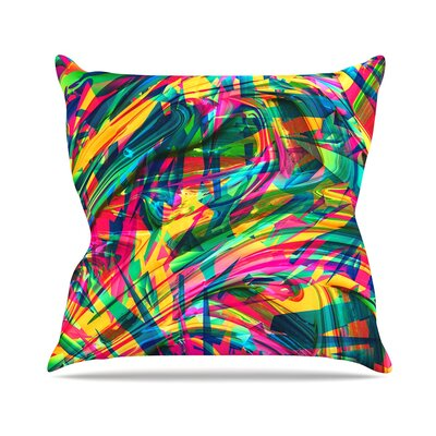 Wild Abstract by Danny Ivan Throw Pillow Size: 16 H x 16 W x 3 D