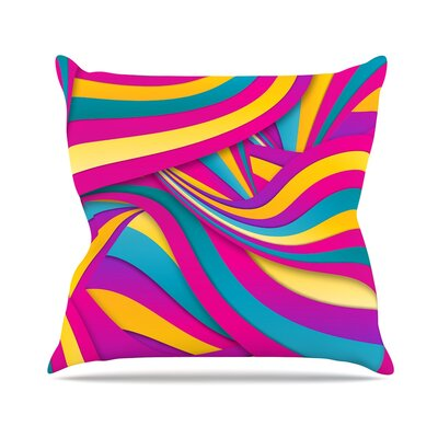 Swirls Everywhere by Danny Ivan Throw Pillow Size: 16 H x 16 W x 3 D