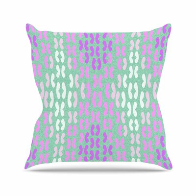 Butterfly Elements II by Dan Sekanwagi Throw Pillow Size: 18 H x 18 W x 3 D