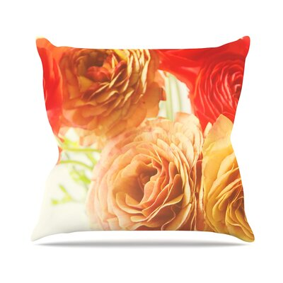 Springtime Ranunculus by Debbra Obertanec Throw Pillow Size: 26 H x 26 W x 5 D