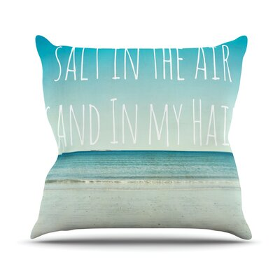 Salt in the Air by Debbra Obertanec Throw Pillow Size: 18 H x 18 W x 3 D