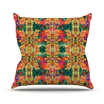 Tropical Floral by Dawid Roc Throw Pillow Size: 18 H x 18 W x 3 D