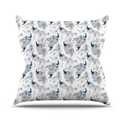 Peacock Fun by Danii Pollehn Throw Pillow Size: 16 H x 16 W x 3 D