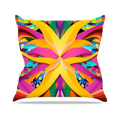 Tropical Fun by Danny Ivan Throw Pillow Size: 18 H x 18 W x 3 D