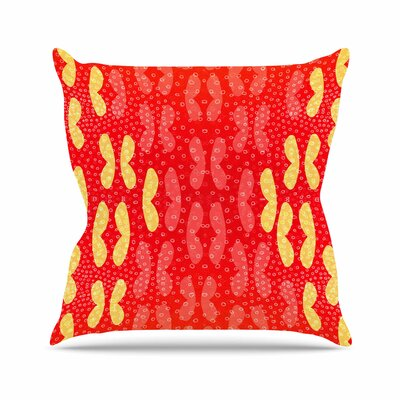 Butterfly Elements by Dan Sekanwagi Throw Pillow Size: 18 H x 18 W x 3 D