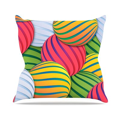 Melons by Danny Ivan Throw Pillow Size: 18 H x 18 W x 3 D