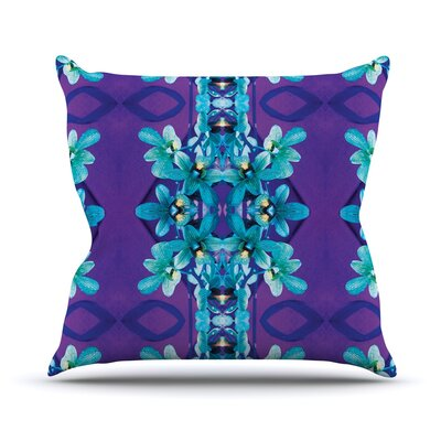 Orchids by Dawid Roc Throw Pillow Size: 26 H x 26 W x 5 D